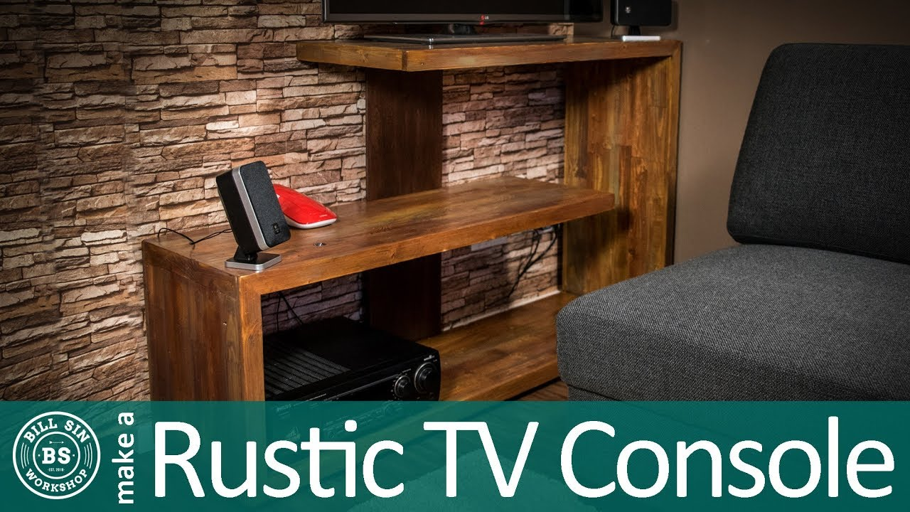 how to make a rustic tv stand reclaimed wood project youtube. Black Bedroom Furniture Sets. Home Design Ideas