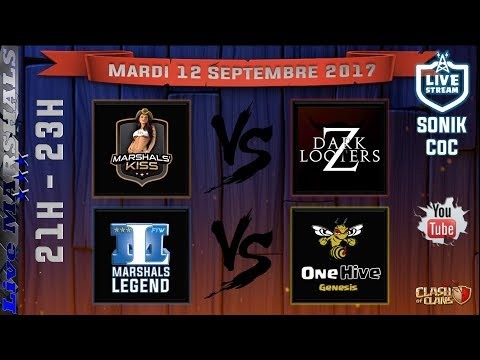 Multiplex ClashOfClans // Marshals'Kiss vs Dark Looter Z & Marshals'Legend vs OneHive Genesis