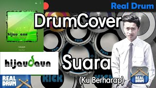 !!! ADEM Banget !!! DrumCover (RealDrum), Hijau Daun Suara Kuberharap HQ Audio
