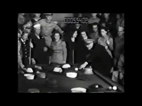 Mature babe billiards