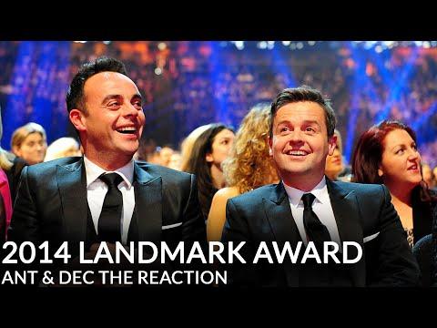 Ant & Decs NTA Landmark Award  Their Reaction