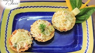 Canapes Recipe | How To Make Canapes Quick Snacks | Vegetarian Recipe | Simply Jain