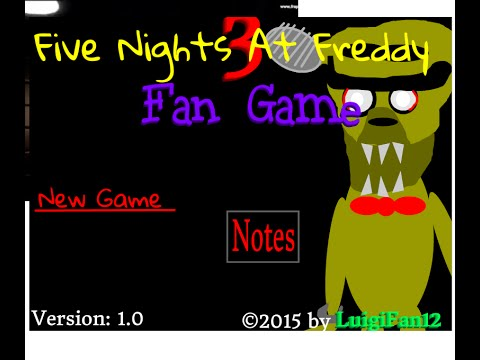 Fnaf 3 fan made in scratch the demo youtube