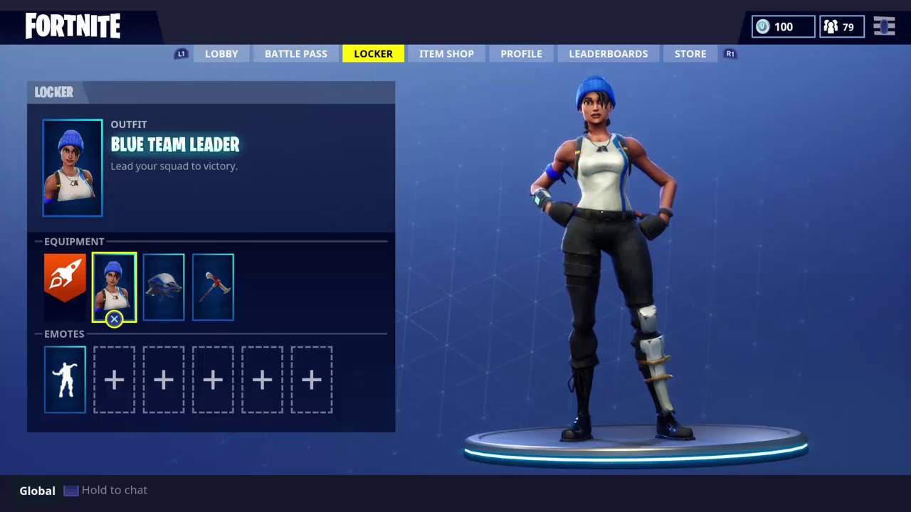 how to get the blue team leader skin in fortnite free blue team leader skin and glider - blue team leader fortnite rare