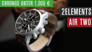 Chronos unter 1000 €: 2ELEMENTS Air Two Chronograph | Valjoux 7750