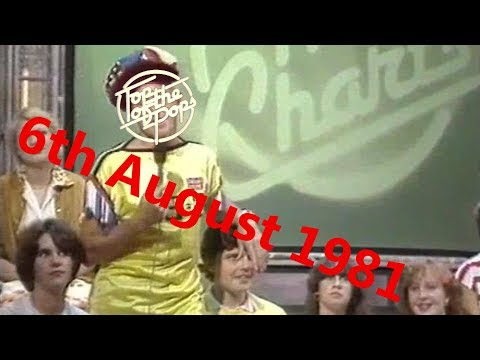 Top of the Pops Chart Rundown - 6th August 1981 (Jimmy Savile)