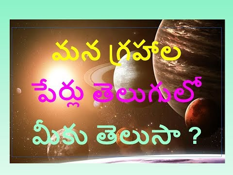 Do you Know Astrology Planet Names in Telugu |  solar system planets in Astrology