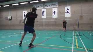 badminton trick shots funny shots