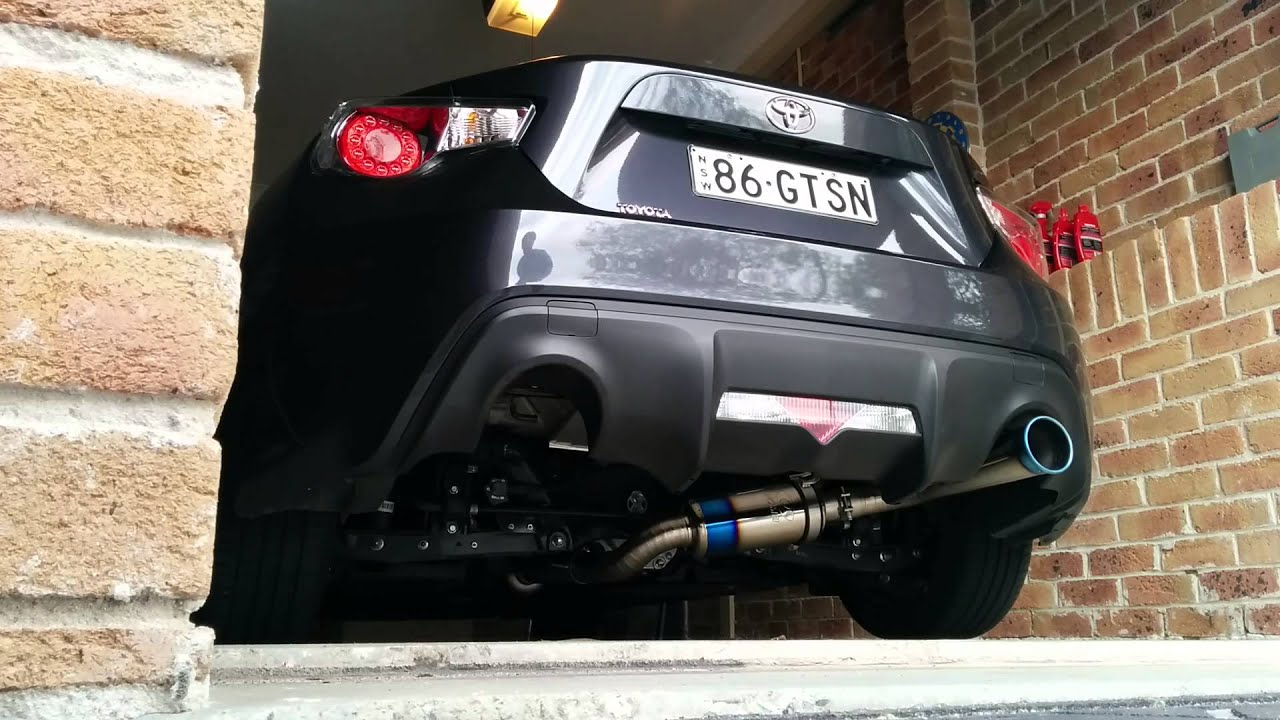 toyota gt86 tomei 60s cold start