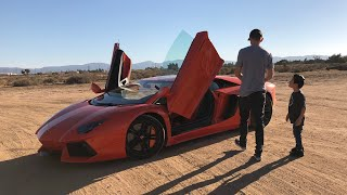 Surprising a 9 year old with an Aventador School Pickup