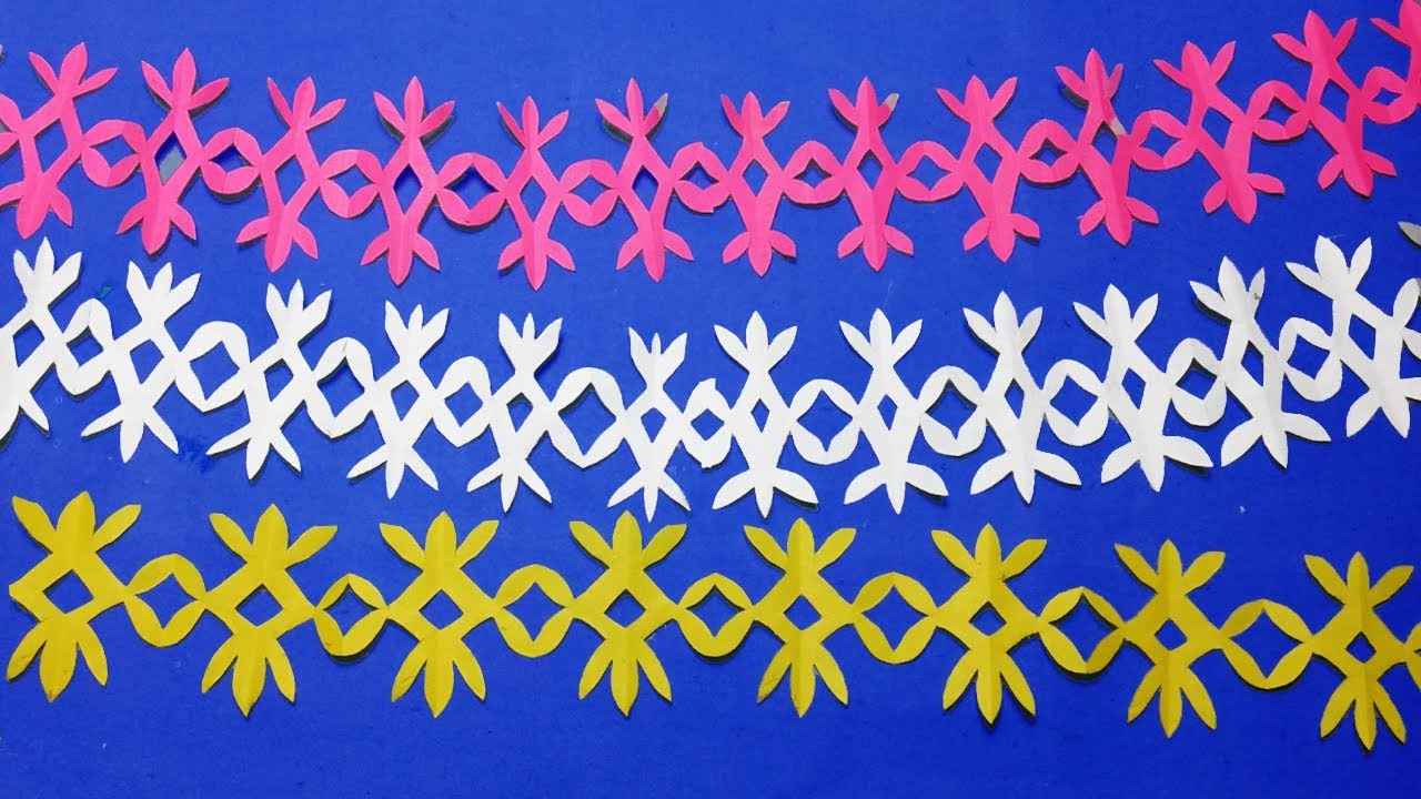 Paper Cutting Border Designs How To Easy Paper Cutting Designs Step