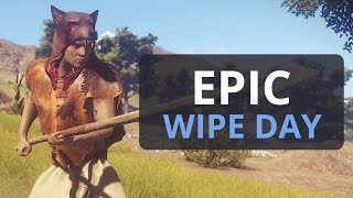 EPIC START TO THE WIPE Rust Solo Survival 4 S2 Ep1