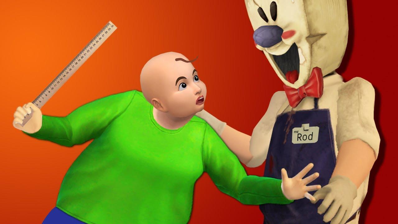 НЕВЕРОЯТНЫЕ ПРИКЛЮЧЕНИЯ МОРОЖЕНЩИКА И БАЛДИ - Ice Scream 4 все серии СТРАШИЛКИ анимация