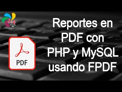 Generar reportes en PDF con PHP y MySQL usando FPDF thumbnail
