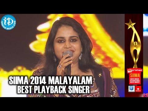 SIIMA 2014 Malayalam Best Playback Singer Female | Mridula Warrier | Laali Laali Song | Kalimannu