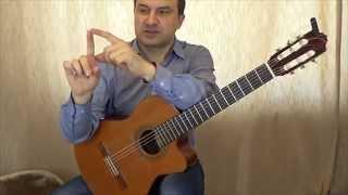 Руки гитариста. Постановка правой. Урок III
