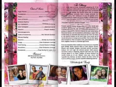 Funeral Program Memorial Templates YouTube – Funeral Pamphlet Templates