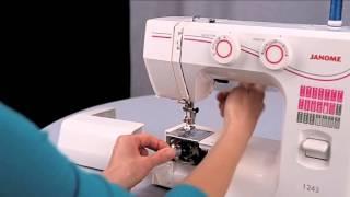 Уроки шитья Janome - заправка верхней и нижней нити(Уроки шитья Janome. Как правильно заправлять верхнюю и нижнюю (шпульную) нить в электромеханической швейной..., 2014-10-20T12:34:15.000Z)