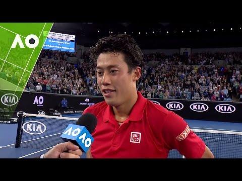 Kei Nishikori on court interview (3R) | Australian Open 2017