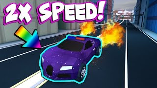 DOUBLE THE SPEED OF YOUR BUGATTI! (Roblox Jailbreak)