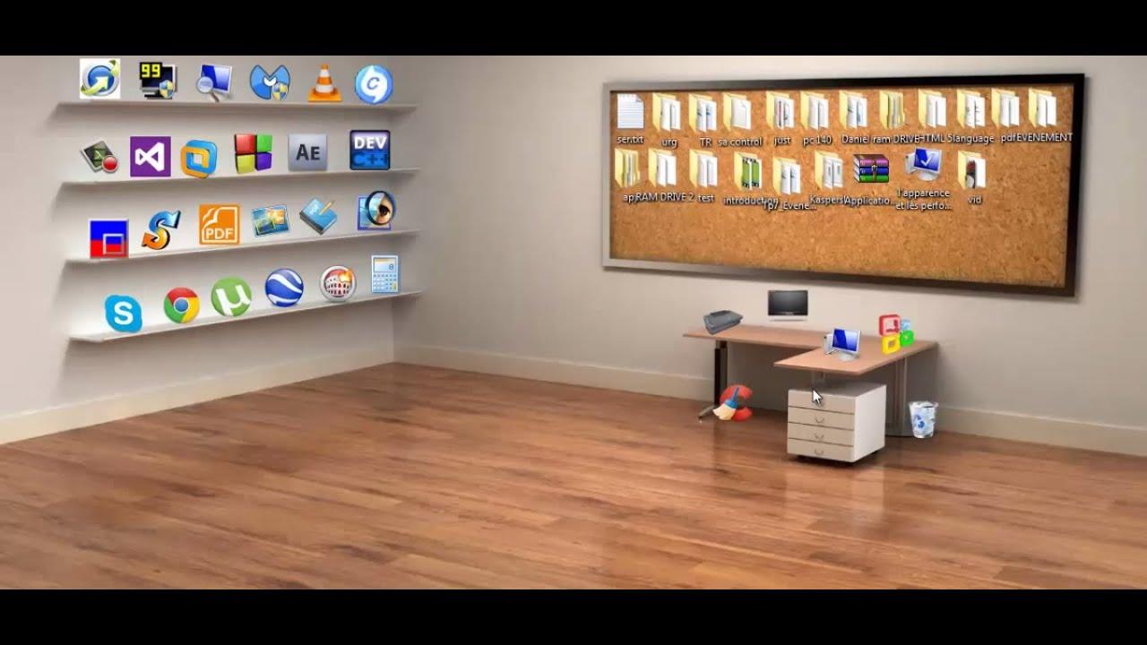 اجعل سطح المكتب عندك جميل 3d ومنظم Youtube