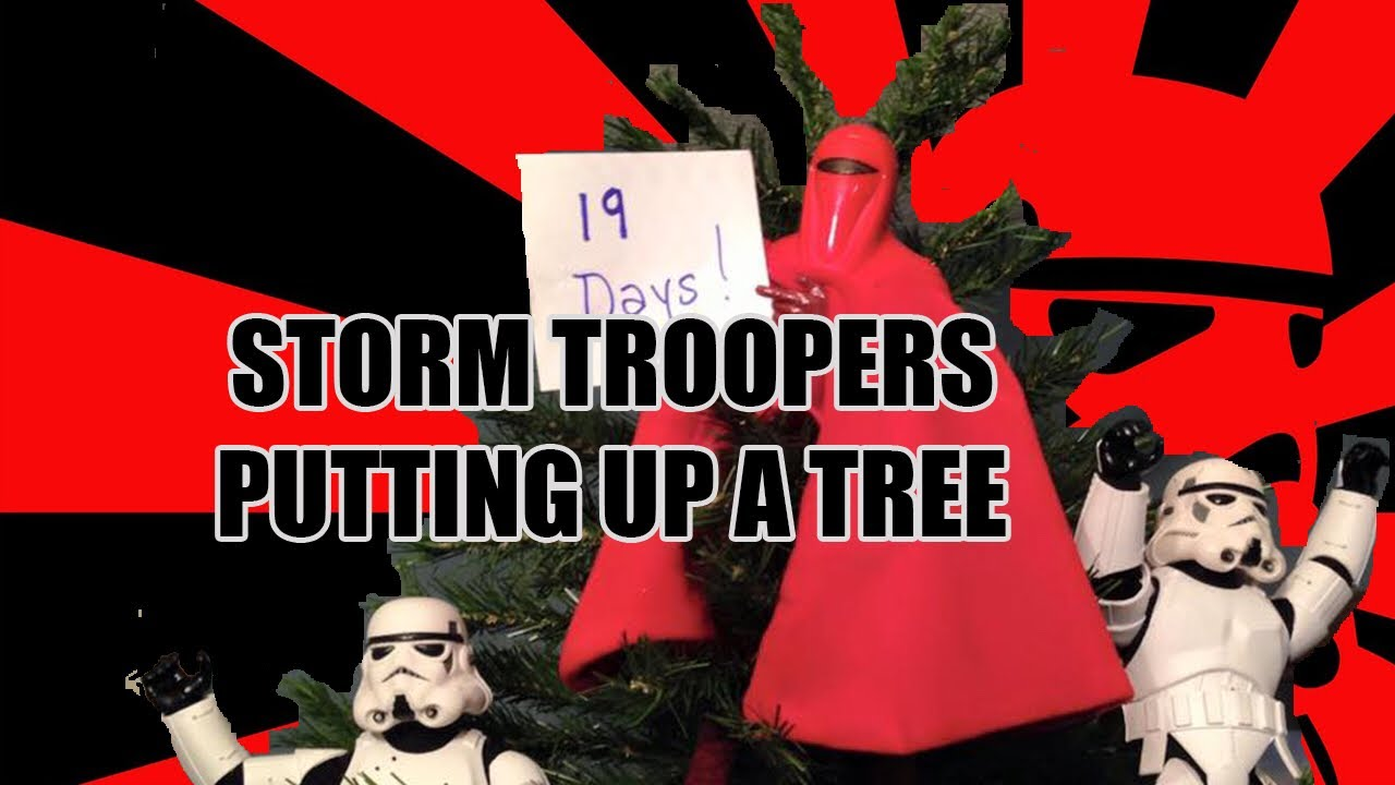 Storm Troopers Assembling the Christmas Tree. Photos by Kyle ...