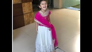 Mahesh babu's daughter sitara very cute video  - awesome !!!