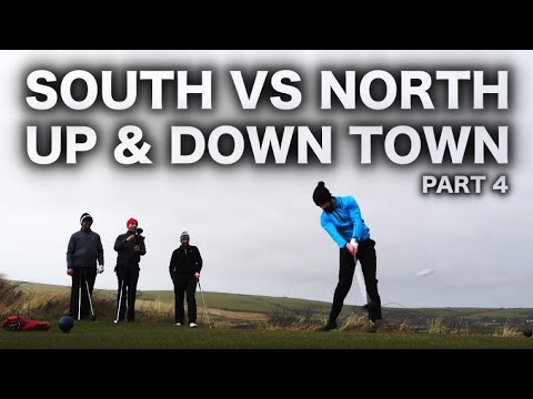 SOUTH Vs NORTH YOUTUBE GOLF MATCH - UP & DOWN TOWN