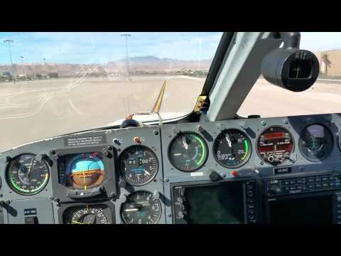 Taxiing and running up a Cessna 421 Golden Eagle.
