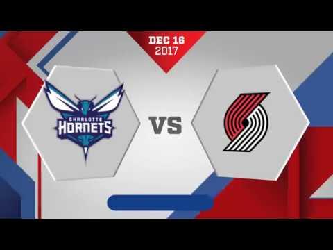 Portland Trail Blazers vs. Charlotte Hornets - December 16, 2017