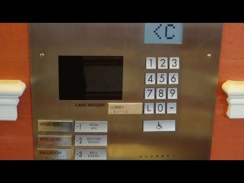 Schindler Miconic 10 Traction elevators @ JW Marriott Washington DC (destination Dispatch)