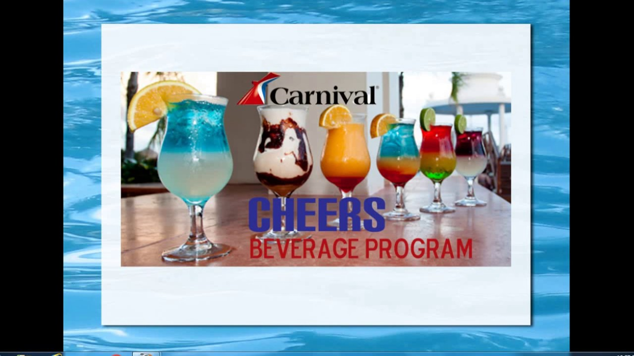 Alcohol Drink Package On Board Carnival Cruise CHEERS