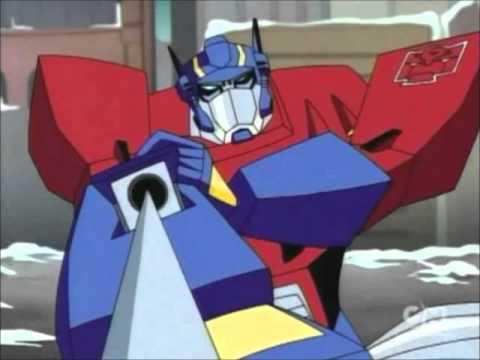 Transformers animated g1 movie mashup optimus prime vs - Transformers cartoon optimus prime vs megatron ...