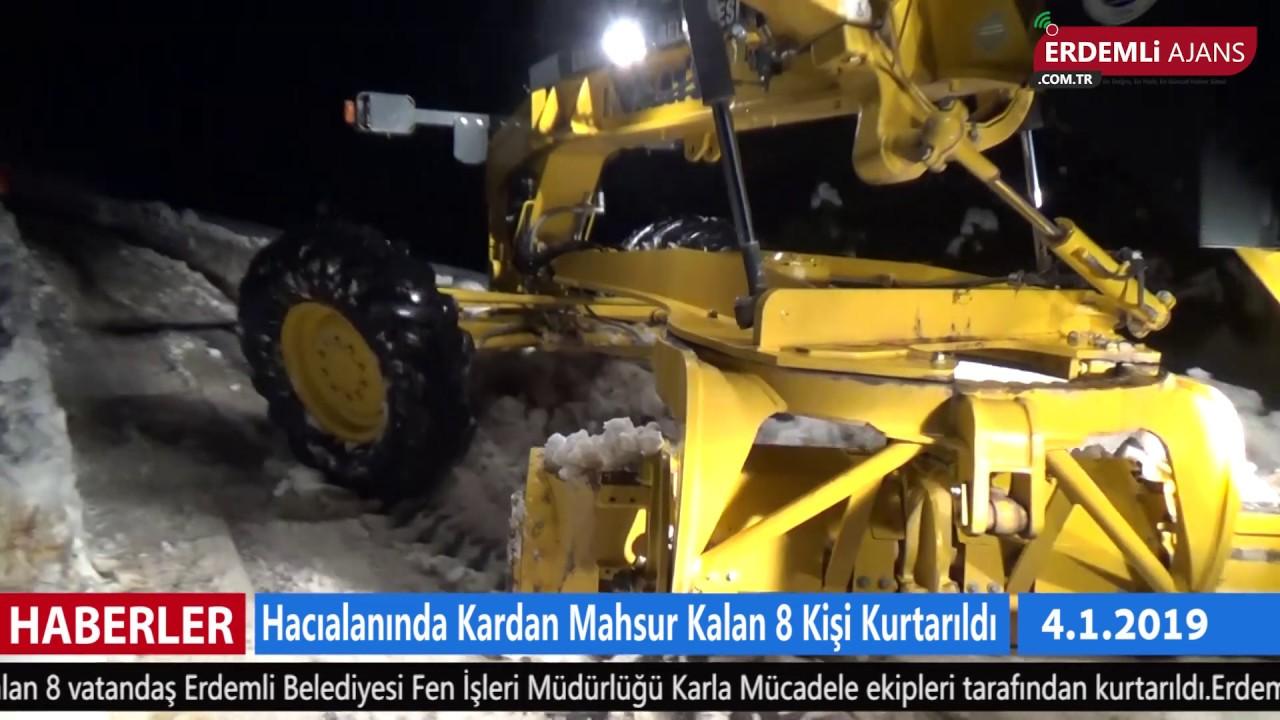 Hacıalanı'nda Kardan Mahsur Kalan 8 Kişi Kurtarıldı