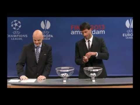 UEFA Champions League - Draw of the Semi Finals 2013 HD 12-4-2013