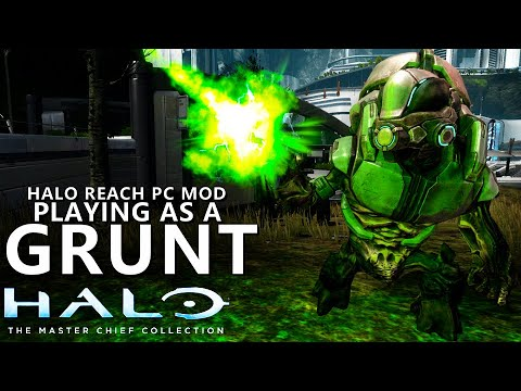 PLAYING AS A GRUNT - Halo Reach PC Mods - Halo Masterchief Collection