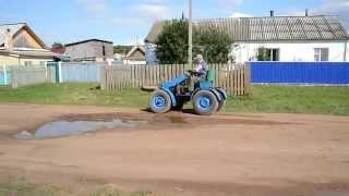 Тест драйв самодельного мини трактора 4X4 модель 3