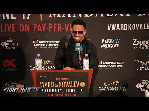 KOVALEV VS WARD 2 - ANDRE WARD'S FULL POST FIGHT PRESS CONFERENCE VIDEO