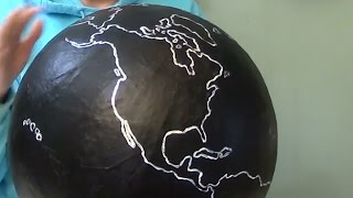 Make a Globe or Planet with Plaster Cloth and Paper Mache