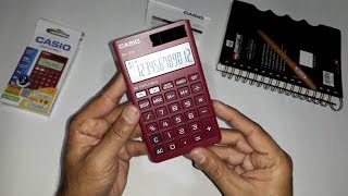 Portable Calculator - Casio NJ 120D RD