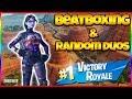 FORTNITE AND BEATBOX | Random Duo Reactions | New Dark Bomber Skin