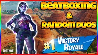 FORTNITE AND BEATBOX | Random Duo Reactions | New Dark Bomber Skin