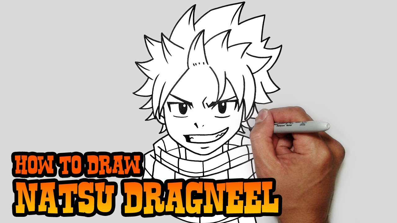 how to draw natsu fairy tail video lesson youtube
