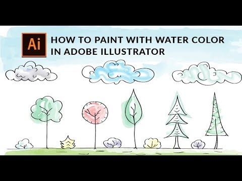 Illustrator Tutorial - How To Paint With Watercolor