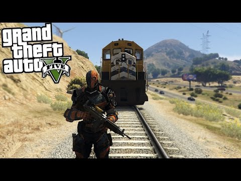 GTA 5 Mods Deathstroke vs Train