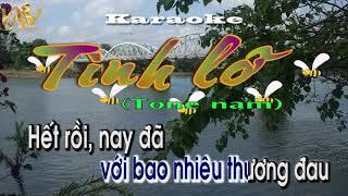 Tình Lỡ Karaoke|| Beat  Tone nam||Tình lỡ Karaoke