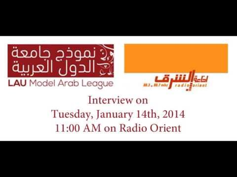 LAU Model Arab League '14 Interview @ Radio Orient