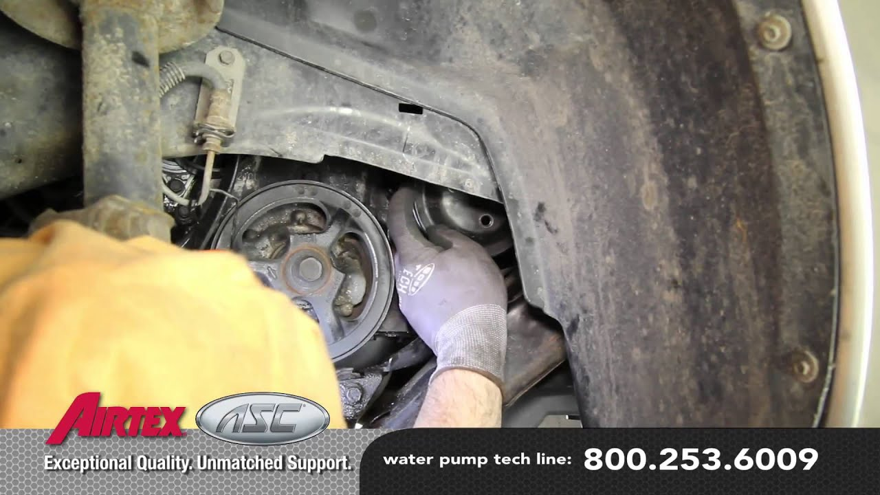 how to install a water pump - saturn 1 9l wp-844 aw5054