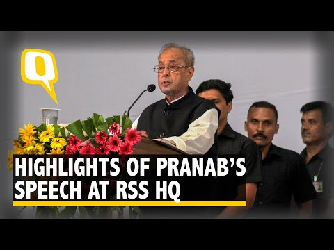 What Pranab Mukherjee Said to the RSS Cadre: Key Takeaways | The Quint
