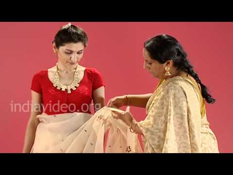 Bangladeshi Jamdani Saree In Bengali Style Tutorial Youtube